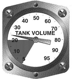 Tank volume gauge