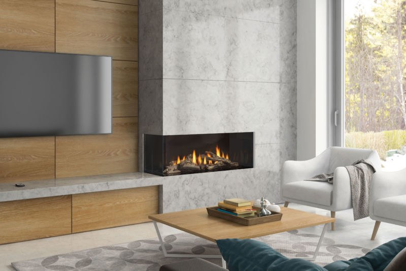 CC40 Low profile modern gas fireplace