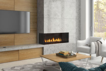 CC40 Low profile modern gas fireplace