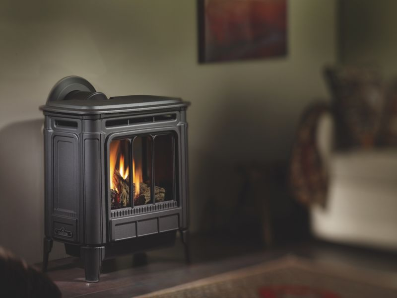Hampton H27 Iron wood stove, grey/black