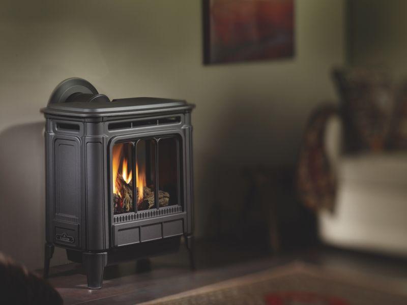 Hampton H27 Iron wood stove, grey/black