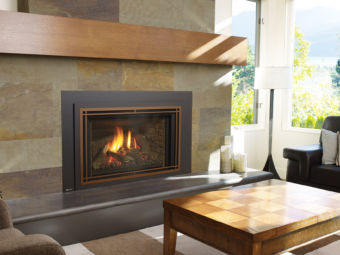 Liberty LRi6E large gas insert in beautiful living space